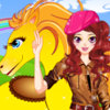 Girl And Her Cute Horse - Play Girl Dress-up Games Online