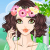 Flower Head Decor - Flower Girl Makeover Games