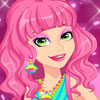 Chic Fluorescent Dress - Dress Up Games 2014