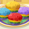 Rainbow Muffins - Free Cooking Games