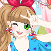 Pretty Selfie Postcard - The Best Makeover Games Online