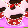 Chocolate Cherry Cupcakes  - Online Cupcake Cooking Games