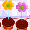 Flower Cupcakes  - Online Cupcake Cooking Games