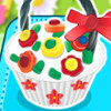 Flower Basket Cupcake  - Online Cupcake Cooking Games