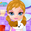 Baby Barbie Adopts A Pet - Pet Caring Games