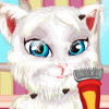 Talking Angela Shaving  - Pet Makeover Games