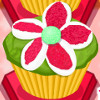 Floral Cupcakes - Cupcake Cooking Games