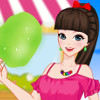 Cotton Candy Girl - Dress Up Games