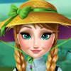 Anna Grows A Flower - Frozen Games For Girls