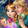 Anna And Kristoff's Baby - New Baby Care Games