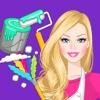 Barbie House Makeover - House Clean Up Games