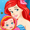 Pregnant Ariel Gives Birth  - Baby Birth Games Online
