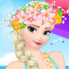 Elsa's Beach Day  - Elsa Dress Up Games