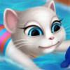 Angela At The Swimming Pool - Talking Angela Games