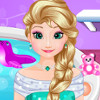 Elsa Baby Spa  - Play Decoration Games