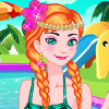 Frozen Sisters Pool Party  - Elsa And Anna Dress Up Games