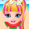 Baby Barbie Beach Slacking  - Slacking Games For Kids