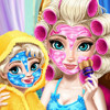 Elsa Mommy Real Makeover  - Elsa Makeover Games
