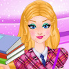 Super Barbie Goes To School  - Super Barbie Makeover Games