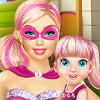 Super Barbie Playing With Baby  - Super Barbie Games For Girls