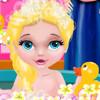 Baby Elsa's Bubble Bath  - Elsa Baby Games Online