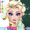 Elsa Homework Slacking  - Girls Slacking Games