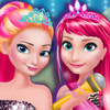 Elsa And Anna In Rock N Royals  - Elsa And Anna Dress Up Games