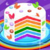 Rainbow Birthday Cake - Birthday Cake Cooking Games