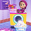 Masha Laundry Day - Masha Games