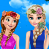 Elsa And Anna Spring Dressup - Elsa And Anna Dressup