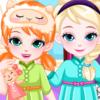 Frozen Baby Sisters Bedtime - Frozen  Dressup Games