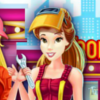 Belle And Rapunzel Mechanics - Princess Dressup Games